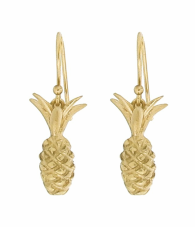 Annette Ferdinandsen Pineapple earrings, 14k gold.